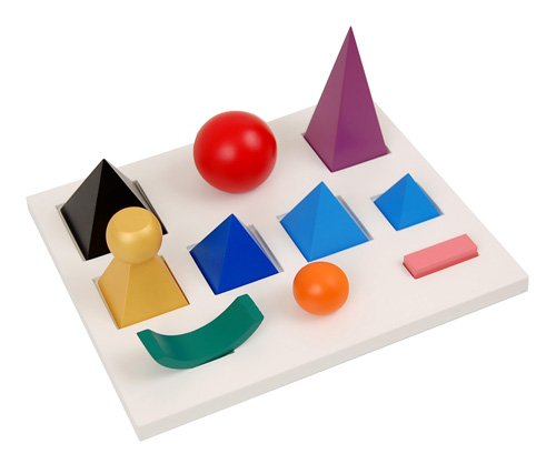 Montessori Solid Grammar Symbols with Cut-Out Tray