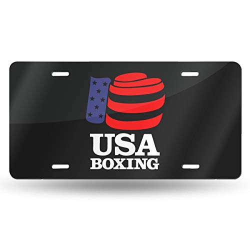YJKPA License Plate, Andrea Sotaski USA Boxing Logo Aluminum License Plates Metal Signs for Car Truck Vehicles Decoration 6