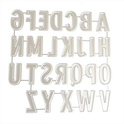 XILALU Cutting Dies, Letter/English Alphabet Stencil Metal Mould Template Embossing Tool for DIY Handmade Scrapbook Album Paper Card Craft Decor