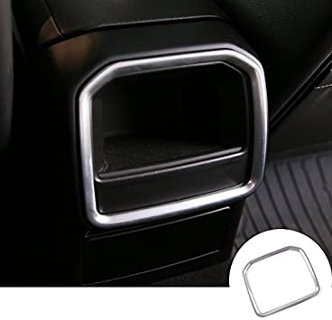 Silver Inner Rear Air Vent Outlet Cover Trim 1pcs Porsche Macan 2014-2017