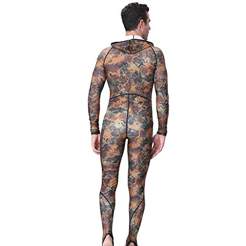 Allywit New Men Camouflage Camo Wetsuit for Scuba Freediving Spearfishing Swimming Jumpsuit Plus Size by Allywit (Image #2)