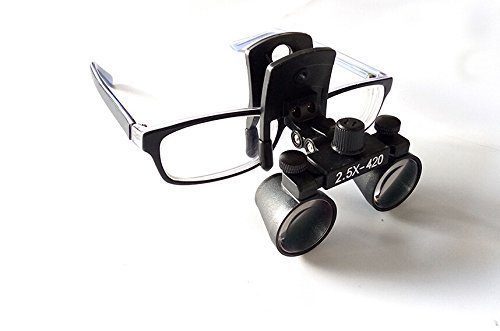 Doc.Royal Surgical Medical Binocular Clip Loupes Lab Head Magnifier w/Clip-on 2.5X420mm DY-109 by Doc.Royal (Image #5)