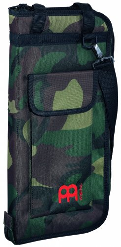 Meinl Percussion Drum Stick Bag with Extra Outside Pocket and Floor Tom Hooks - for Mallets, Brushes and Other Common Accessories As Well, Camouflage - Tom Floor Drumstick Bag