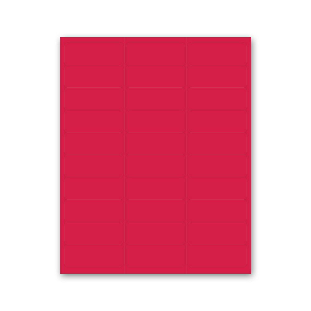 PDC Healthcare LS1258-6 Chart Labels Laser, Portrait, 2 5/8'' x 1'', Red (Pack of 30)