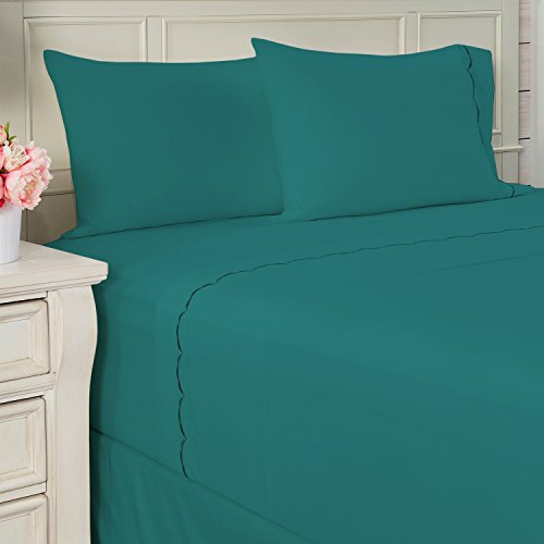 Paula Deen Home Scallop 4pc Sheet Set - Turquoise - Queen