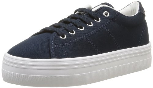 Baskets Sneakers Name Bleu Plato femme No mode Canvas Navy White Iw6fqT
