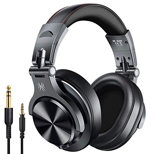 OneOdio A70 Bluetooth Over Ear Headphones, Studio Headphones with Shareport, Foldable, Wired and Wireless Professional…