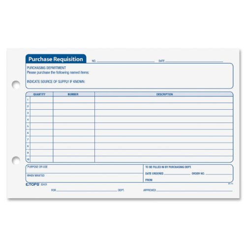 Purchase Requisition Inches Sheets 32431 product image