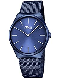 stainless steel blue watch for men