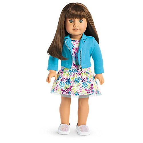 American Girl - 2017 Truly Me Doll: Light Skin, Brown Hair with Bangs, Green Eyes DN19