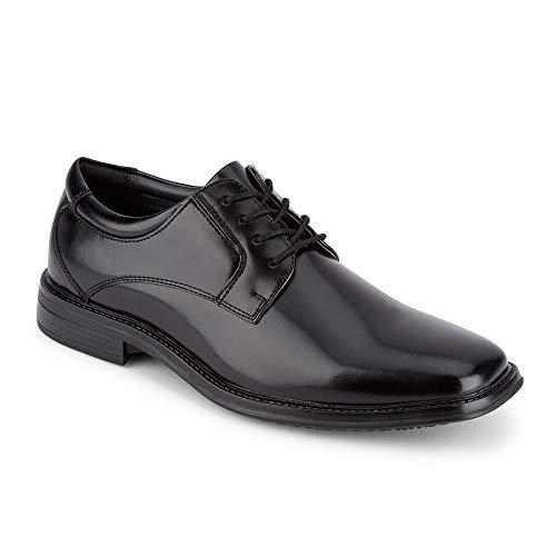 Dockers Mens Irving Slip Resistant Work Dress Oxford Shoe, Black, 11 W