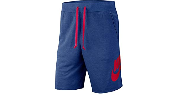 "Nike 9"" Sportswear Alumni Terry Shorts Indigo Blue AR2375 458 Men's Size Large"