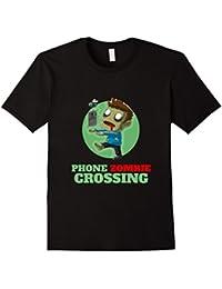 Phone Zombie Crossing T-Shirt Funny & Cute Zombie Shirt Teen