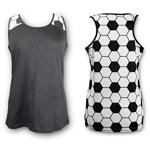 KNITPOPSHOP Soccer Tank Top for Mom Fans T Shirt Apparel Tshirt Gifts Team (Soccer, Large)