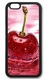 Beautiful Cherry Design Customized PC Black iphone 6 Case By Custom Service Your Great Choice