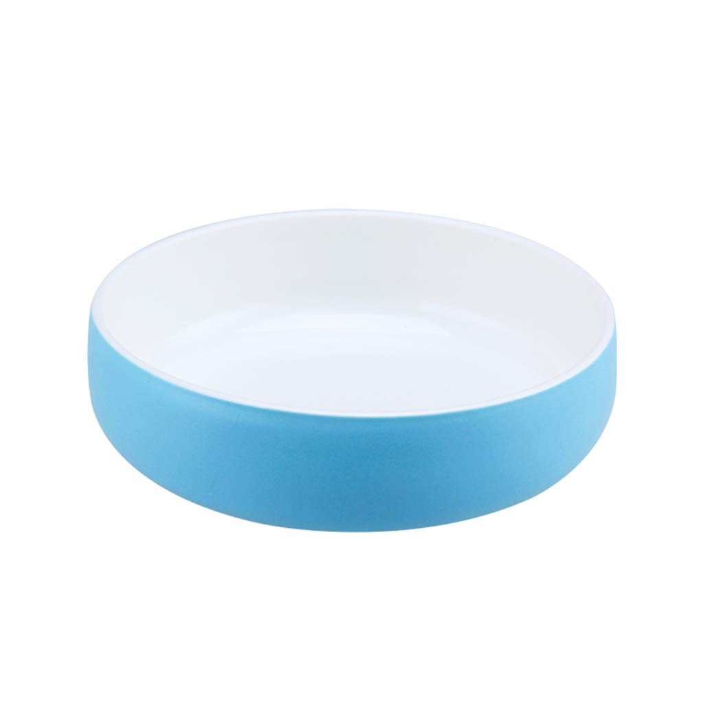 Lightbluee Large Lightbluee Large Ceramics Dog Bowls for Food and Water, Pet Feeder Bowl Smooth and Easy to Clean, Suitable for Small Medium Size Dog,Lightbluee,Large