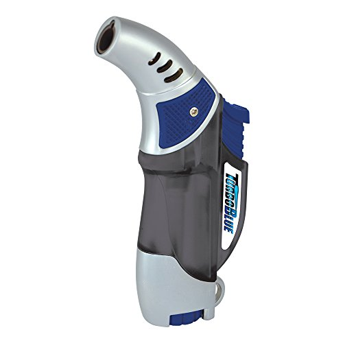 Turbo Blue Torch Jet Flame Refillable Lighter - Powerful Windproof Flame