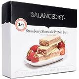 BalanceDiet™ | Protein Bar | 15g of Protein | Low Carb | 7 Bar Box (Strawberry Shortcake)