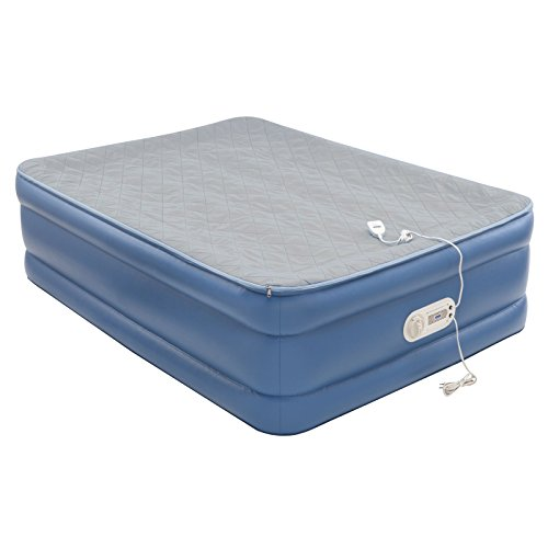 aerobed quilted foam topper air mattress import it all 88445