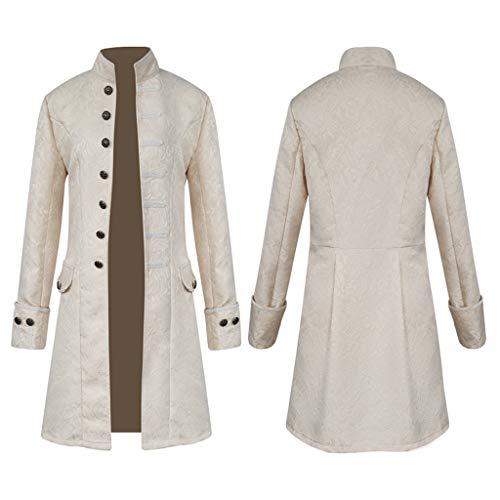 Jacquard Da In Vittoriano Bianca Steampunk Costume Cappotto Uomo Baoblaze Giacca Vintage ZY7Ewqx0T