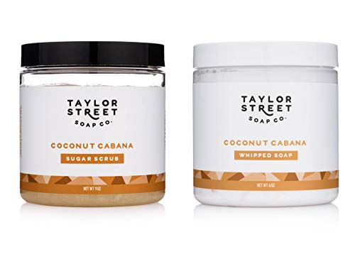 Taylor Street Soap Co. Whipped Soap & Emulsified Sugar Scrubs 2 Set Gift Bundle (Coconut Cabana)