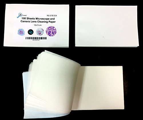Rs Science - Microscope and Camera Lens Cleaning Paper - 3-pack of 100-sheet booklets - Total 300 sheets