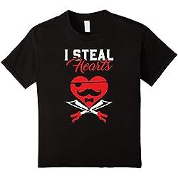 Kids Kids Valentines Day T-Shirt - Great Gift for Men & Boys 8 Black
