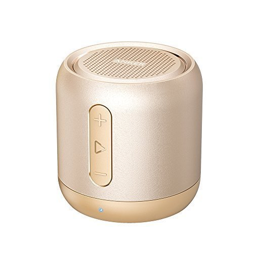 Anker SoundCore mini, Super-Portable Bluetooth Speaker with 15-Hour Playtime, 66-Foot Bluetooth Range, Enhanced Bass, Noise-Cancelling Microphone - Gold