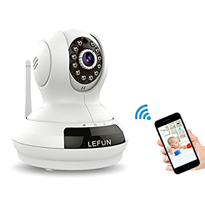 LeFun Wireless Camera with Video Recording/Two Way Audio/Night Vision/Pan Tilt Zoom/Motion Detect for 720p Baby Monitor WiFi Surveillance Camera IP Camera Home Security Camera by LeFun
