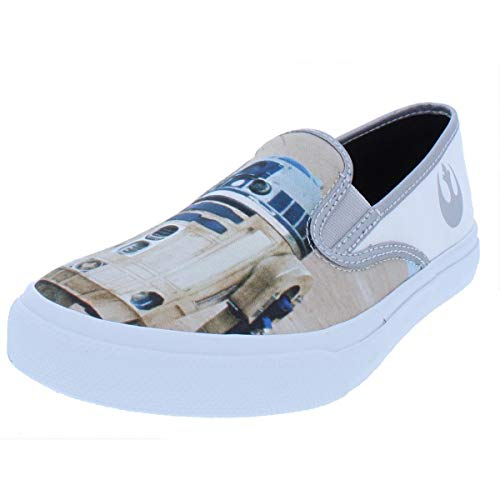 Star Wars Shoes Womens (SPERRY Womens Cloud Star Wars Droids Canvas Casual Shoes White 9.5 Medium)