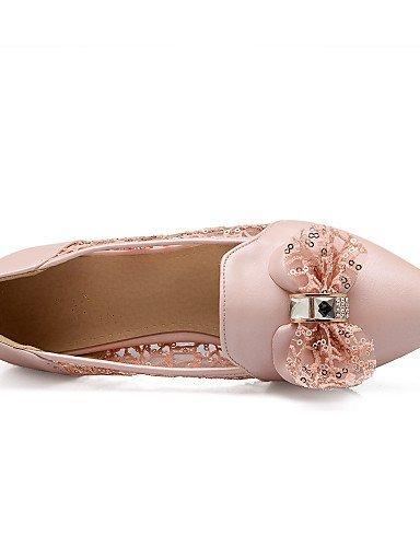 Ballerine Formale ShangYi Beige Scarpe Blue Finta Ballerina pelle punta Pizzo Blu Casual A Donna Piatto Rosa wggaEtqT