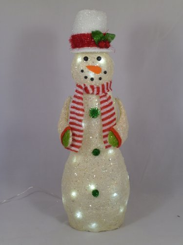 christmas concepts 24 inch outdoor snowman christmas decoration with white led lights