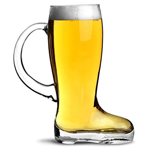 Glas Bierglas Stiefel mit Griff 4,5 Pint-Glas, mit Griffen, deutscher Stil Bierstiefel Gummistiefel