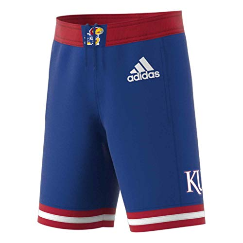 adidas Kansas Jayhawks Adult NCAA Replica Basketball Shorts - Royal, Medium