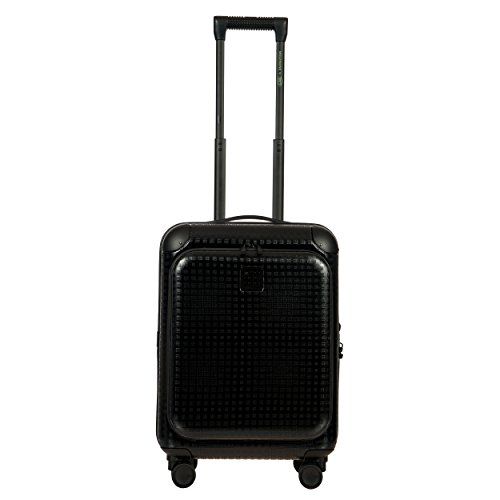 Bric's Men's Moleskine 21 inch International Carry on Polycarbonate Spinner Trunk Business Hard Case with Pocket, Black by Bric's