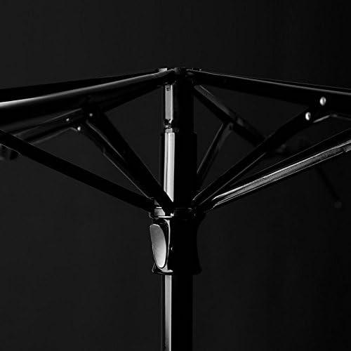 Color : B WMS Lattice Sun Umbrella 40-inch Large Umbrella Surface 8 Glass Fiber Windproof Umbrella Quick to Carry