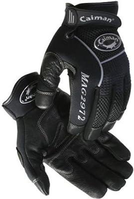 Caiman Genuine American Black Deerskin Men's Utility Gloves