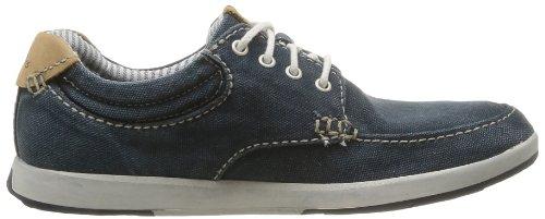 Clarks Norwin Vibe 203586147 - Zapatos de lona para hombre Azul (Navy Canvas)