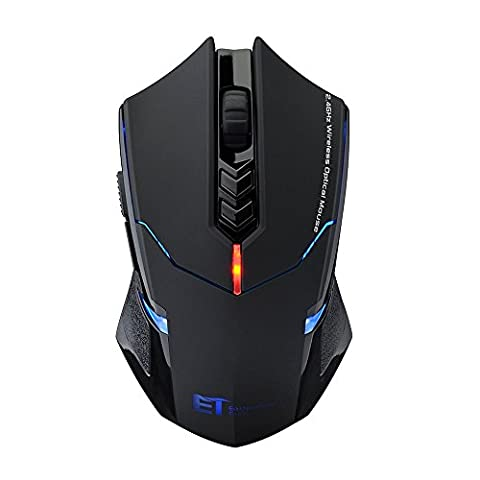 Pictek Wireless Computer Mouse, Portable Mobile Gaming Mouse (Silent Click) (LED Backlight) (Adjustable DPI) Mice for Notebook, PC, Laptop (Gaming Mouse Wireless Silent)