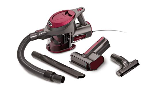 Shark Rocket Ultra-Light with TruePet Mini Motorized Brush and 15-Foot Power Cord Hand Vacuum (HV292), Maroon (Best Pet Hair Hand Held Vacuum)