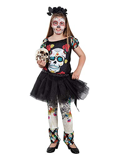 DISBACANAL Disfraz Catrina tutú para niña - Único, 8 años: Amazon ...