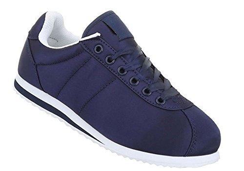 Schuhcity24 Damen Schuhe Freizeitschuhe Sneakers Sportschuhe Dunkelblau