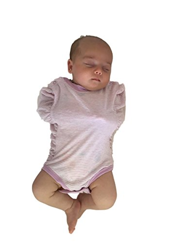 Pink Stripe Swaddle Blanket - Oohbubs Legs Out Swaddle Summer Baby Swaddle (0-3 Months, Pink / White Stripe)