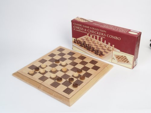 Deluxe staunton wood chess and checkers set amazon store for ladies - Deluxe chess sets ...