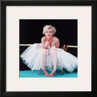 Amazon.com: Marilyn Monroe: Ballerina Framed Art Poster Print, 19x19 ...