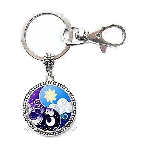 Amazon.com: Llavero de cristal, diseño de princesa Luna ...