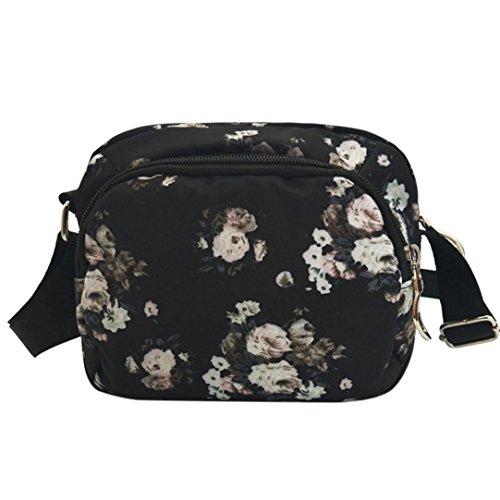 YJYDADA Bags,Women's Vintage Printing Water Repellent Nylon Shoulder Bag Crossbody Bag (A) from YJYDADA