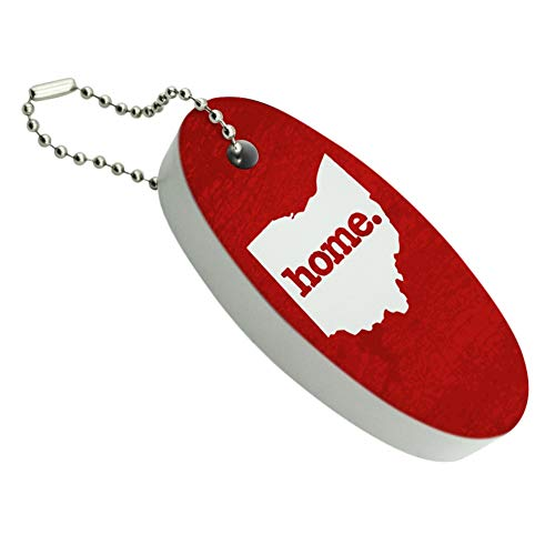 Graphics and More Ohio OH Home State Textured Red Officially Licensed Floating Foam Keychain Fishing Boat Buoy Key Float