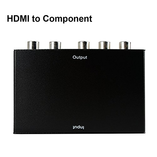 HDMI To Component ,ZAMO HDMI To YPbPr Component RGB 1080p Video and R/L Audio Output Converter Adapter Supporting 1080p 2 Channels LPCM -Black by ZAMO