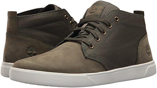 Timberland Men's Groveton LTT Chukka L/F Sneaker, Dark Green, 15 Medium US